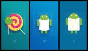 Історія Android від 5.0 до 7.1