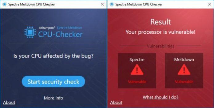 Spectre Meltdown CPU Checker — безкоштовна утиліта для перевірки комп'ютера на предмет уразливості Meltdown і Specter