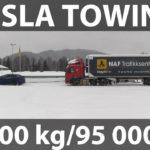 Tesla Model X відбуксувала 43-тонну вантажівку